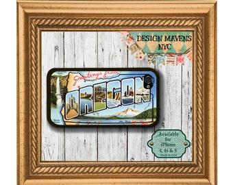 Oregon Postcard iPhone Case, Retro Postcard iPhone Case, iPhone 6 Case, 6s, 6 Plus, iPhone 5, 5s, iPhone 5c, iPhone 4, 4s, Phone Case