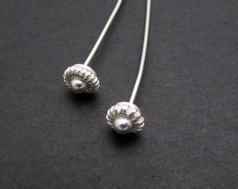 4 Pcs, 78mm, Sterling silver Headpin