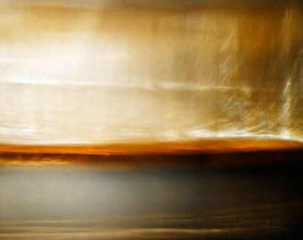 Ethereal landscape, yellow, white, orange, grey, abstract landscape, surreal photo, giclee photo, abstract decor, acrylic, paper, canvas
