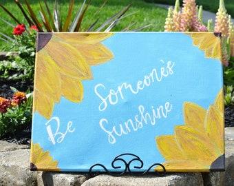 12 x 16 Inch Be Someone's Sunshine, Original Painting, Wall Art