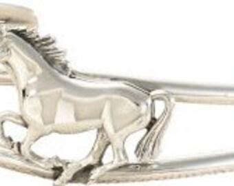 BRD435-S Running Horse Sterling Silver Bracelet