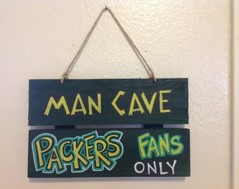 Packer Man Cave Signs : Man cave packers fans welcome football hanging pallet wood sign ebay