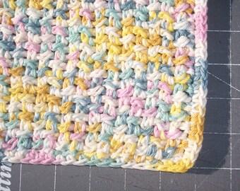handmade cotton crochet washcloth dishcloth  --1137