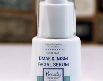 Premium Facial Serum / DMAE & MSM Serum / Vegan/ Facial Moisturizer / Eye Gel