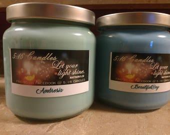 18 oz soy jar candle