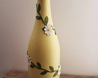Decorative Wine bottle - upcycled