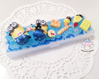 Cute Despicable Me Minions Banana Summer Hot decoden Storage Box Pencil Pen Case
