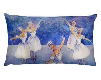 Dance of The Snow Queen Rectangular Pillow