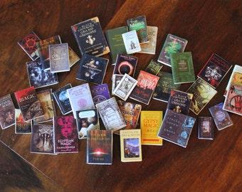 Dollhouse miniature books. Set of 40 different wizard books
