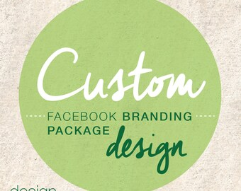 Custom Facebook Branding Package Design - Facebook Cover - Facebook Profile - Facebook Business - Social Media - Web Design - Web Graphics