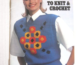 Easy Does It Tops To Knit & Crochet - Coats and Clark Book No. 321 - 1986
