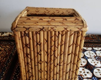 Vintage Faux Bamboo Tissue Box Cover