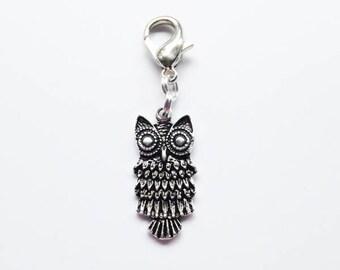 Owl Progress Keeper/Zipper Pull/Stitch Marker/Mini Stitch Marker Holder/Bag Charm/Dangle Charm