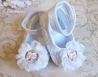 Rainbow Baby Outfit - Rainbow Baby Shoes - Rainbow Baby Gift - Rainbow Baby 1st Birthday - Rainbow Baby First Birthday Outfit
