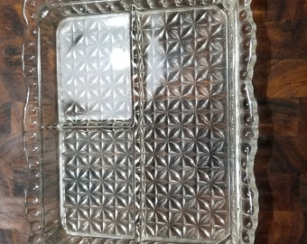 Sweet Cut Glass Vanity Tray with Sections