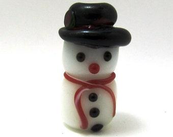 Snowey The Lampwork Snowman Bead