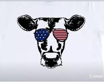 Patriotic Cow TShirt