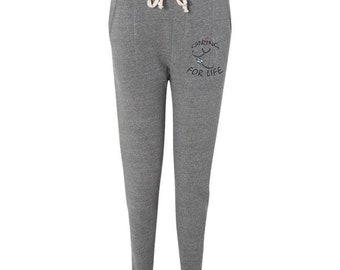 Joggers-Caring for Life-stethoscope-pants-nursing-medicine-health care-caring profession-grey-workout-active-gift-comfort-adjustable-women