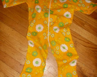 Girls toddler Flower Power retro 60's romper jumpsuit 2-3 T~100% cotton