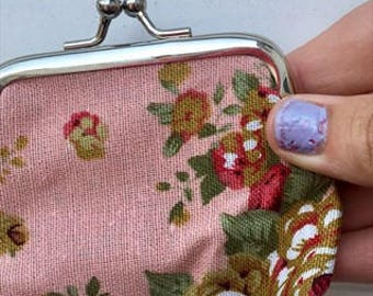 Cute floral vintage inspired purse