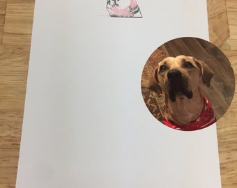 Custom, Hand-stamped Dog Stationary