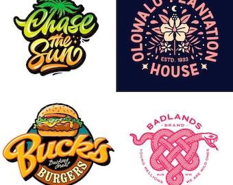 Unlimited revisions, professional designer, custom logo design, ooak logo