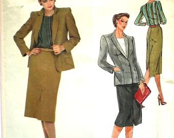 UNCUT Christian Dior Skirt Suit  Bust 36 Vogue Paris Original Designer Sewing Pattern Size 14
