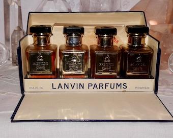 Lanvin, Arpège, Mon Peche, Prétexte, Scandal, 4 x 10 ml. or 0.34 oz. Flacons, Pure Parfum Extrait, 1936, Paris, France ..