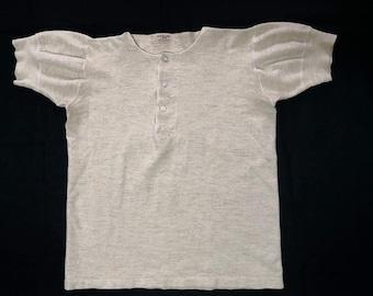 Vintage 1930s 1940s R.H. Macy & Co Undershirt / Henley Neck / Rare Item