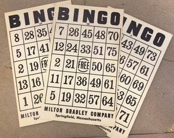 Vintage Bingo Playing Cards