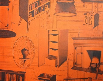 Cabinets Bookcases and Wall Shelves 1950 Home Craftsman Magazine vintage midcentury DIY design book