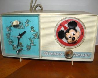 Mickey Mouse Electric Clock Radio