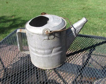Galvanized #6 Watering Can / Galvanized Sprinkling Can