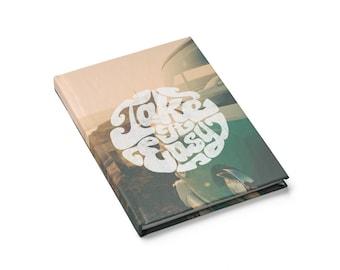 Retro Vw Van Take It Easy Journal  Sketchbook  Blank