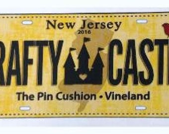 2016 Row by Row Experience Fabric License Plate Panel - HOME SWEET HOME