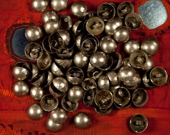 Vintage Kuchi Button, metal findings for Tribal DIY