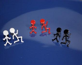 Runner Earrings -- Runner, Silver, Athletic, Athletes