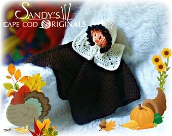 Pilgrim Girl Lovie Blanket Crochet Pattern PDF 633
