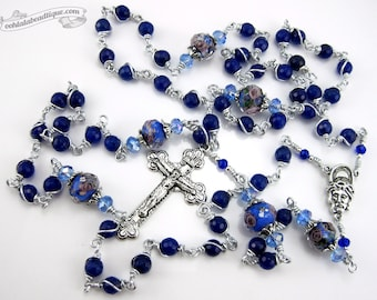 Lapis Lazuli Unbreakable Rosary first communion gift lapis lazuli rosary catholic gift confirmation rosary catholic rosaries blue rosary