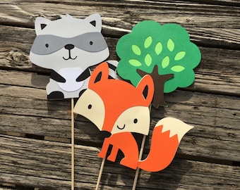 Woodland Party Center Pieces - Woodland Party, Baby Shower, Birthday Party, Fox Party, Party Decorations