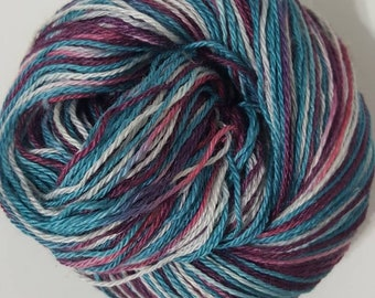 Alpaca Handpainted Yarn, Hand Painted Yarn, Suri Alpaca Fingering Yarn, USA Grown and Made, 300yd, Platinum Gemstones