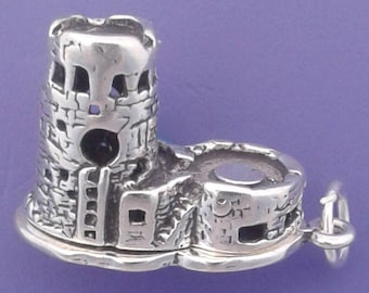 GRAND CANYON Watchtower Charm .925 Sterling Silver Arizona Pendant - lp1156