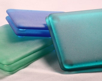 Fused glass Coasters- Sea Glass (Set of 6) (Made to Order)