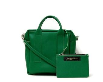 Box Bag in Italian Green // mini cross body bag