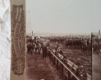 George Rose Stereoview 2916 Duke of York Review Flemington - The March Past