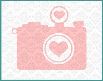 Camera svg, Photographer Svg, Photograph svg, Heart Camera svg, Photographer Pride Svg, Camera Clipart Svg, Cutting File, Cricut, Silhouette