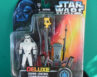 Star Wars Power of the Force Deluxe Crowd Control Stormtrooper 1990's Kenner