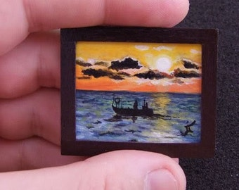 Miniature Original Painting  Artwork for dollhouse or your collection