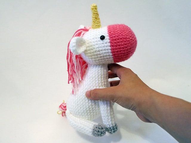 Amigurumi Unicorn : Made to order amigurumi unicorn cute crochet unicorn