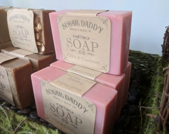 Sugar Daddy Health and Beauty Co. - Hand-crafted Premium Goat's Milk Soap - Citrus & Cranberry